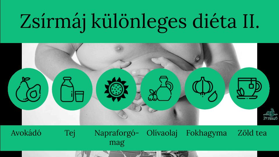 diéta zsírmájhoz